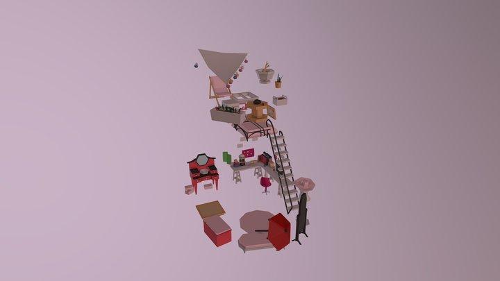 Marinette's Room 3D Model