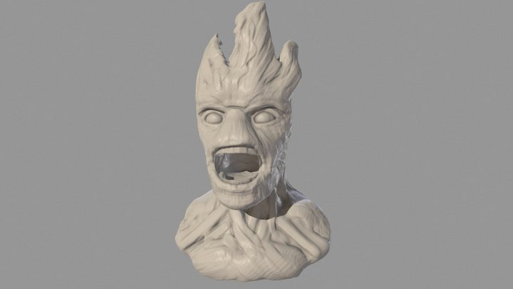 SculptJanuary 2016 - Old Tree 3D Model