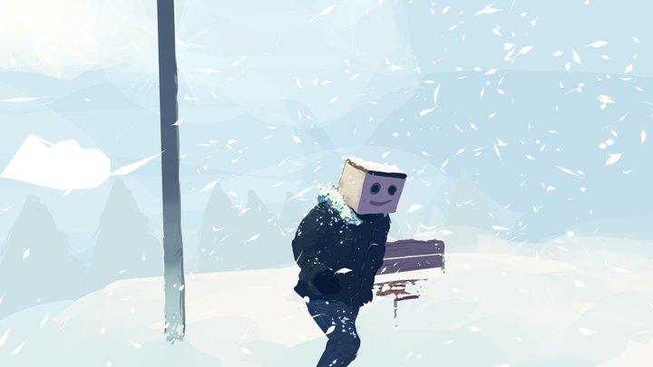 Boxhead Snow 3D Model