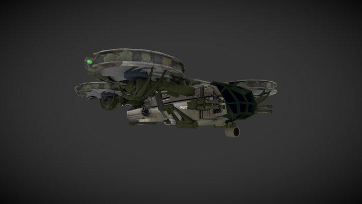 """Big drone """"Porevit"""" 3D Model"""