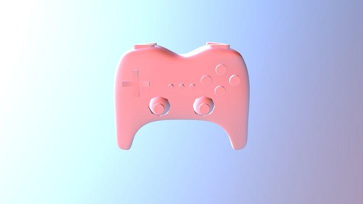 Wii Remote Classic Controller 3D Model