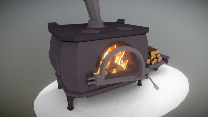 Day 2 | Wood Stove - 3December! 3D Model