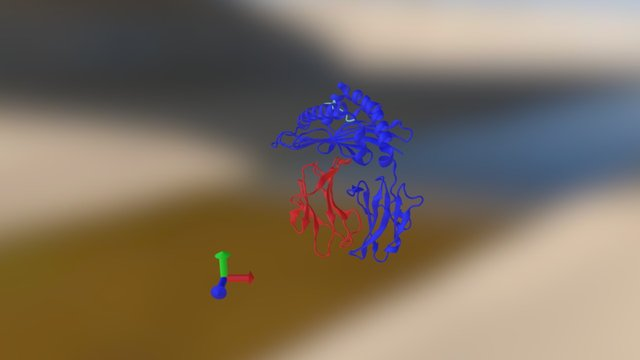 MHC Class I Antigen Presenting Complex - Ribbon 3D Model