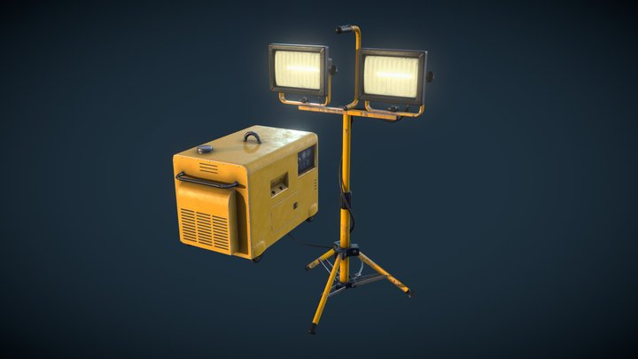 FREE - lamp and power supply 3D Model
