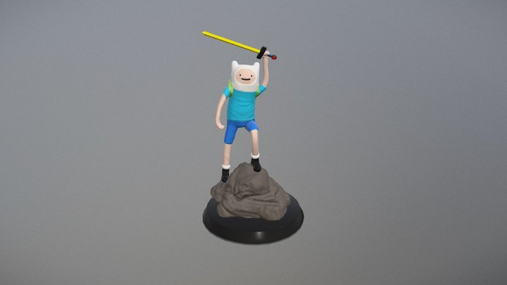 Finn from Adventure Time 3D Model