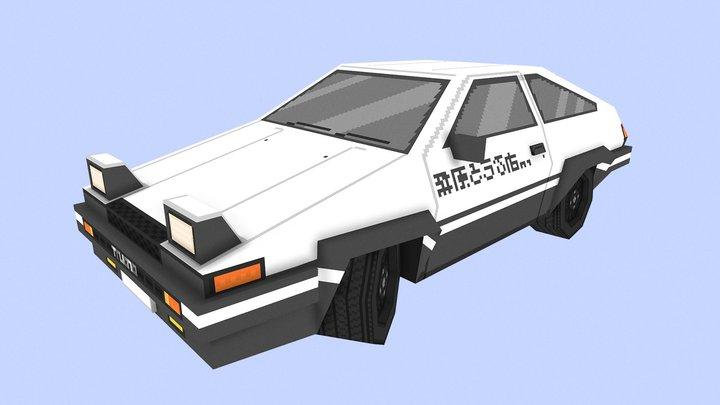 Toyota AE86 Sprinter Trueno 3D Model