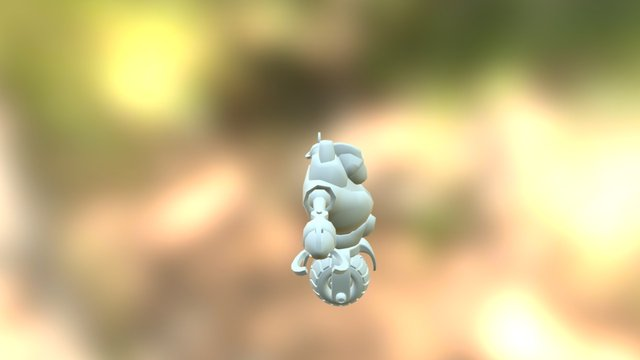 Cyborg Textured 3D Model
