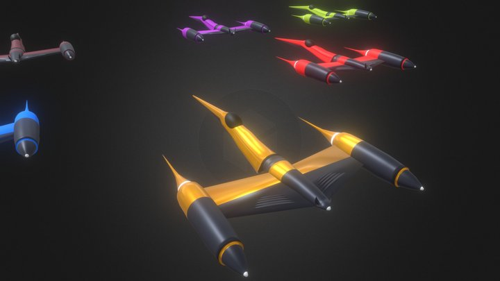 Space fighters | Spaceships | Spacecrafts 3D Model