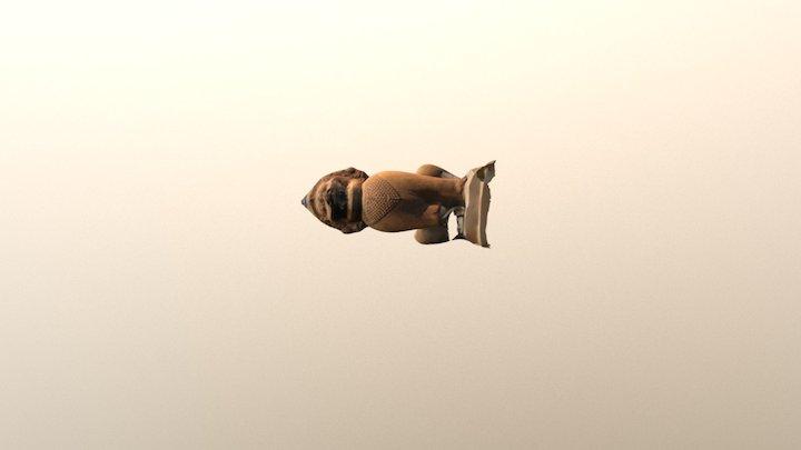 Asia dog 3D Model