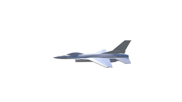 XF VIPER - Foamboard F-16 EDF 3D Model