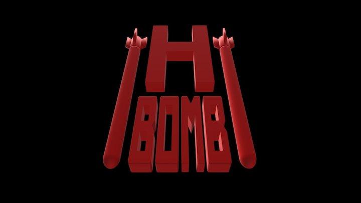 HBomb - Logo - Heavy Metal Band 3D Model