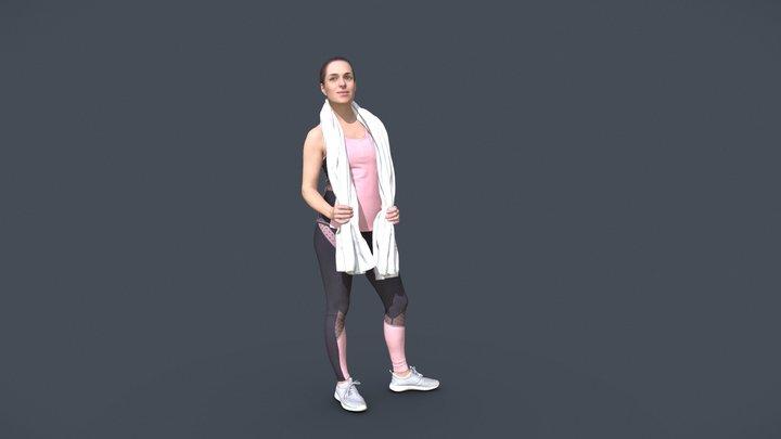 Juliette 10781 - Free Sport Girl 3D Model