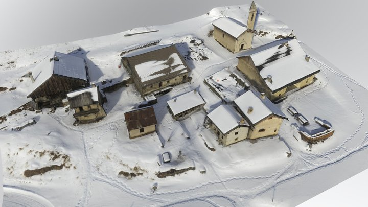 Hamlet of Valpreveyre, Abriès, Queyras, France 3D Model