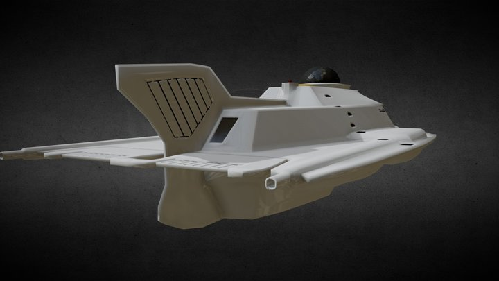 Proteus Submarine — Low Poly Version 3D Model