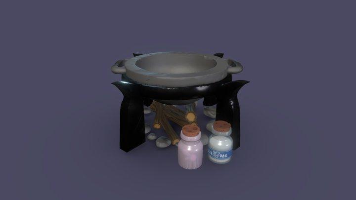 Cooking Place BoTW - Digital Sculpting 3D Model