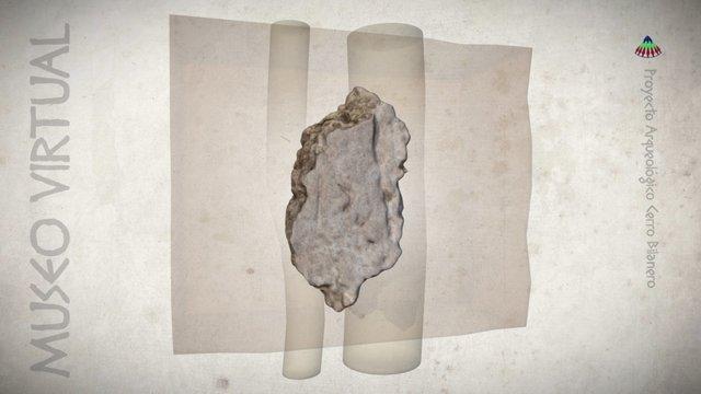 Fragmento de barro con improntas de cañizo 3D Model
