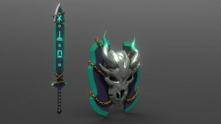 Monster Hunter World Weapon 3D Model
