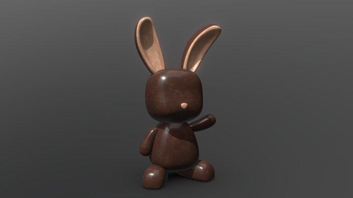 Chocolate Easter Bunny Challenge 3D Model