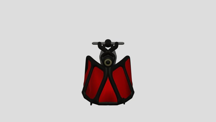 Hover Sci Fi Motorcycle 3D Model