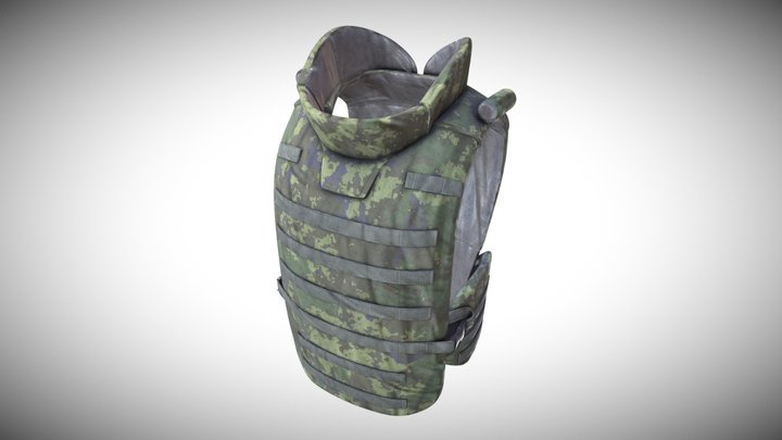 Bulletproof Vest 6B43 Russian Ratnik 3D Model