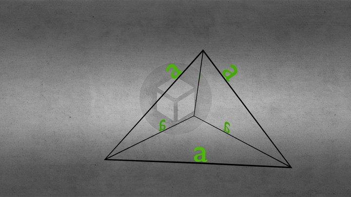 Vienādsānu Piramīda 3D Model