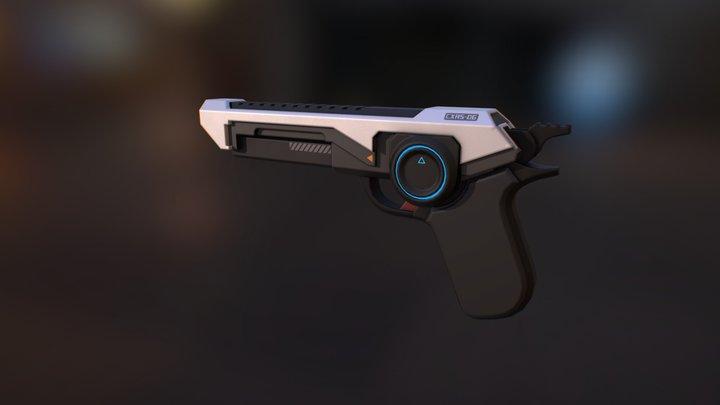 Game Ready Sci-fi pistol 3D Model