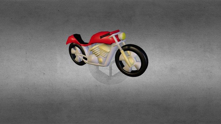 Basic Motorbike 3D Model