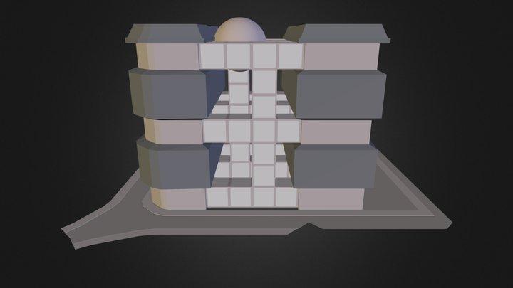 City Block 4 3D Model