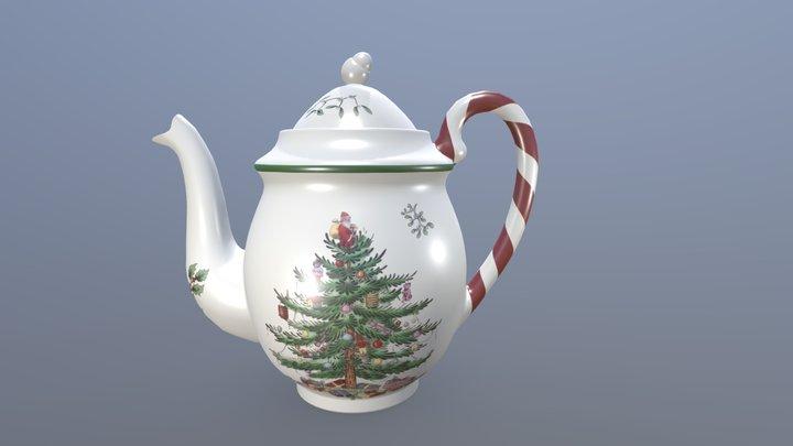 Spode - Christmas Teapot 3D Model