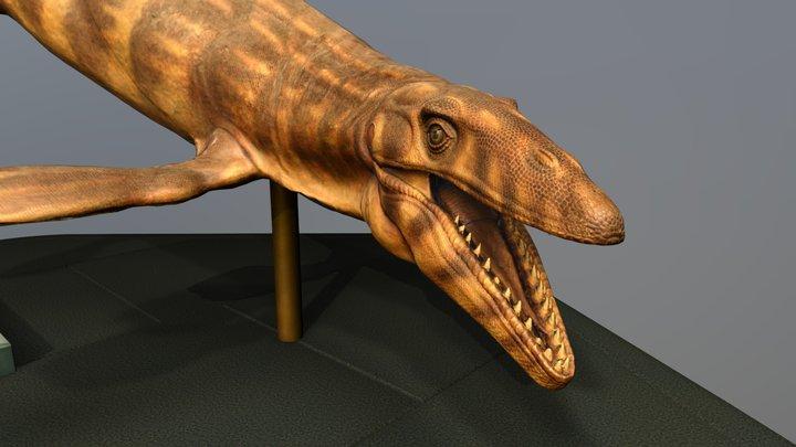 Mosasaur Sculpture Photogrammetry 3D Model