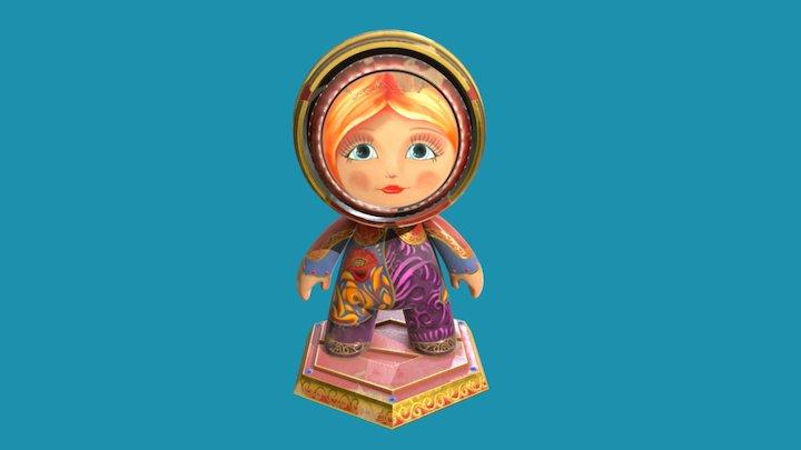 Meet Mat - Painted Russian Doll 3D Model