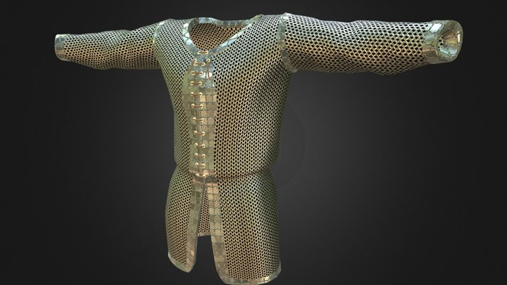 Fantasy Medieval Chainmail Shirt / Tunic 3D Model