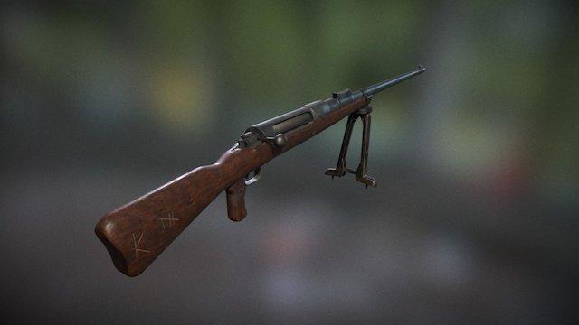 Mauser T-Gewehr 1918 3D Model
