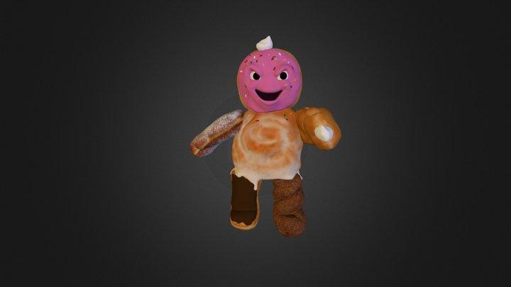 Doughnut Monster 3D Model