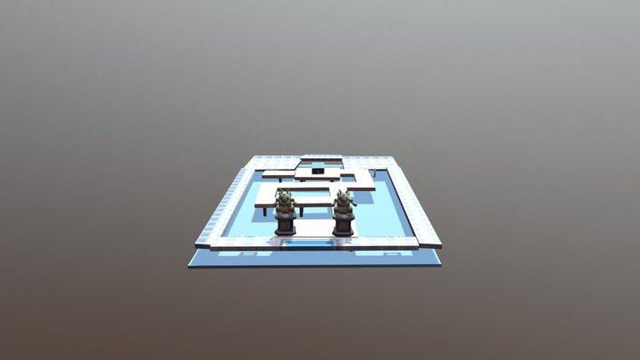 Misty Gym Background Model 3D 3D Model