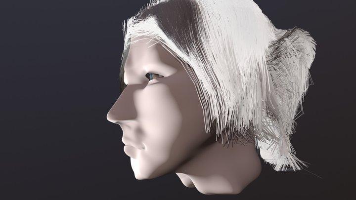 Female head test 3D Model