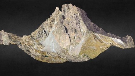 Pic du Midi d'Ossau - Pyrénées Atlantiques 3D Model