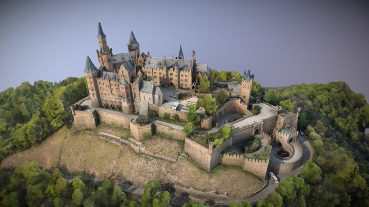 Burg Hohenzollern 3D Model