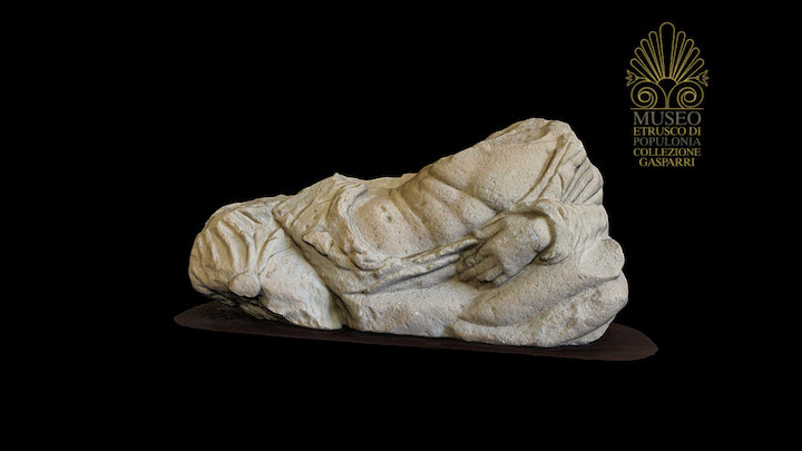 Etruscan anthropoid sarcophagus cover 3D Model