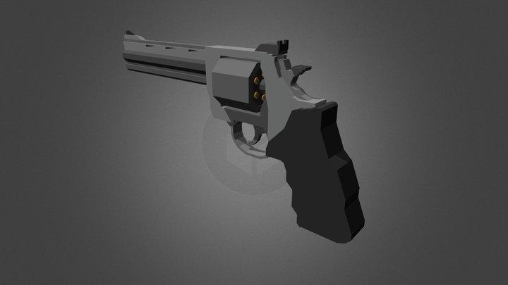 .44 Magnum - Low Details 3D Model