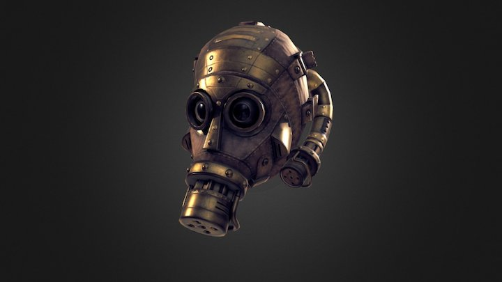 Steampunk Gas Mask 3D Model