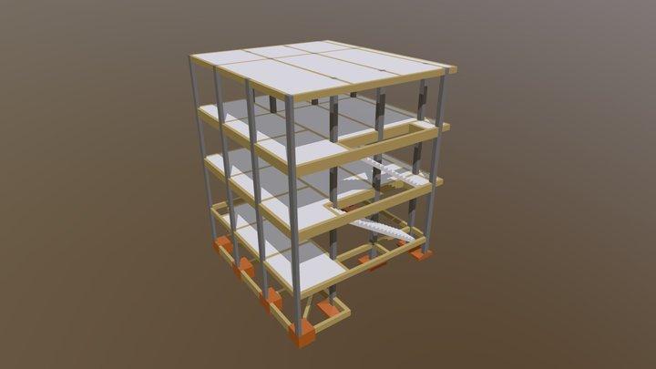 Projeto Estrutural - Churrascaria BR 3D Model