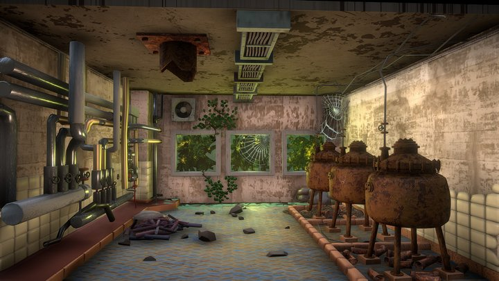 Day 5. Abandoned Factory 3D Model