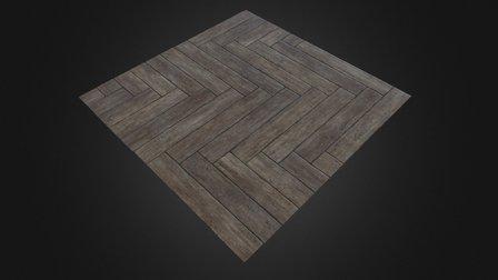 Herringbone Floor - Procedural Material 3D Model
