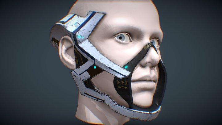 Asari respirator mask WIP 3D Model
