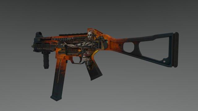 UMP-45 | Armamancer 3D Model