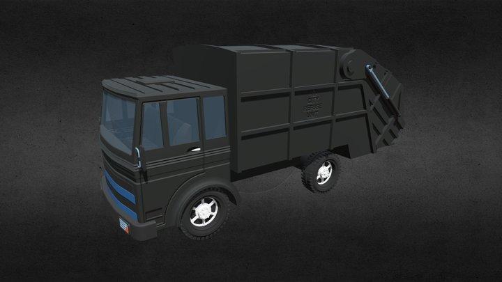 Garbage Truck 1 3D Model
