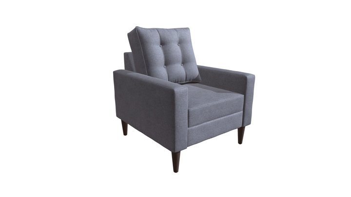 Morgan Arm Chair Dark Gray - 101186 3D Model