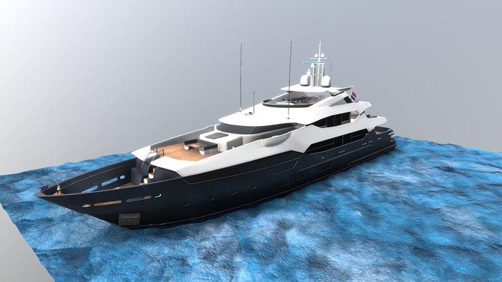 Sunseeker Yacht 155 3D Model