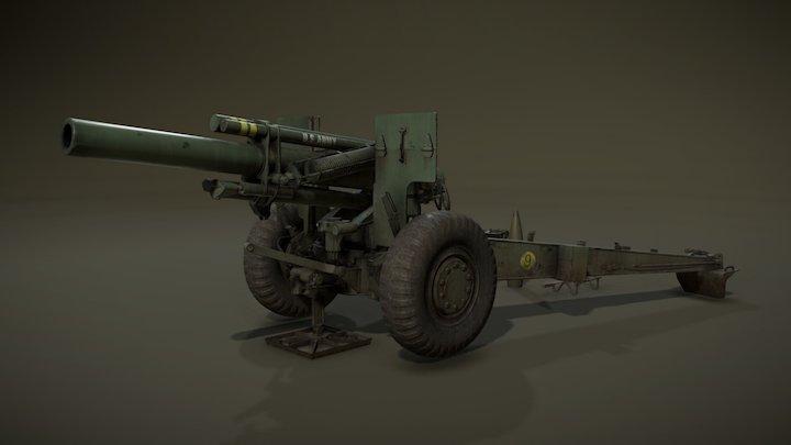 HowitzerM114 Cannon 3D Model
